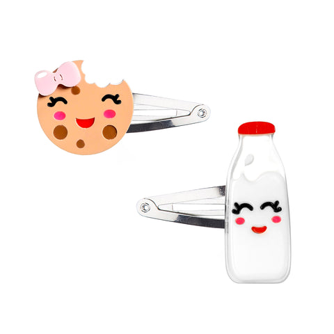 Perfect Pair - Milk + Cookie Snap Clips