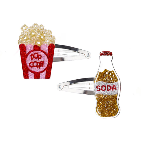 Popcorn + Soda Snap Clips