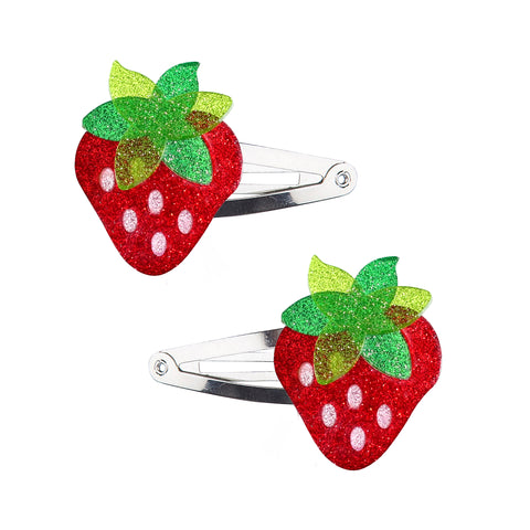 Strawberry Hair Clips -  Lilies & Roses NY
