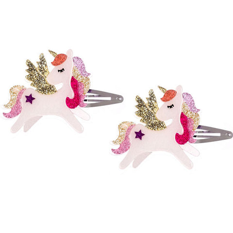 Winged Unicorn Hair Clips -  Lilies & Roses NY