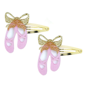 Ballet Slippers Snap Clips -  Lilies & Roses NY