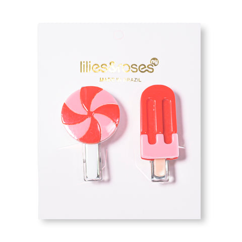Lollipop + Popsicle Hair Clips -  Lilies & Roses NY