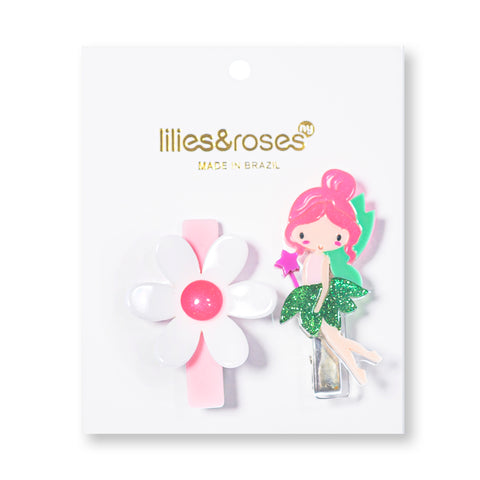 Fairy + Flower Hair Clips -  Lilies & Roses NY