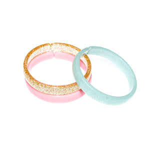Bracelets Mix - Gold + Light Pink + Mint Glitter -  Lilies & Roses NY