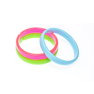 Bracelets Mix - Neon Pink + Neon green + Light Blue -  Lilies & Roses NY