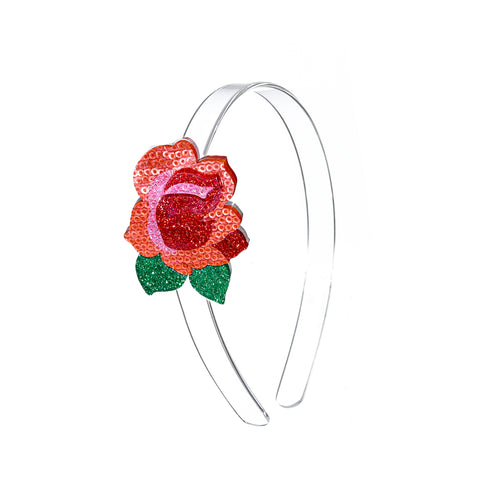 Red Rose Headband -  Lilies & Roses NY