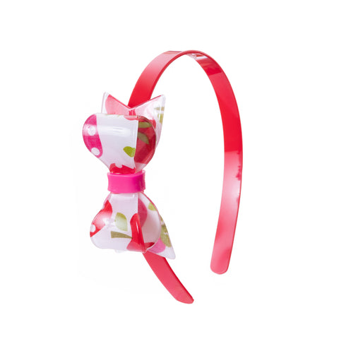 Fat Bow Headband - Strawberrry Print