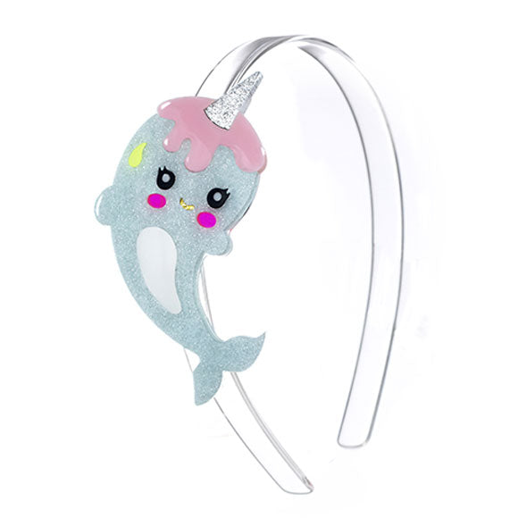 Narwhal, headband, cute, mint, pink, glitter, animals