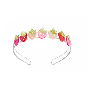 Multi Strawberry Pink Red Headband