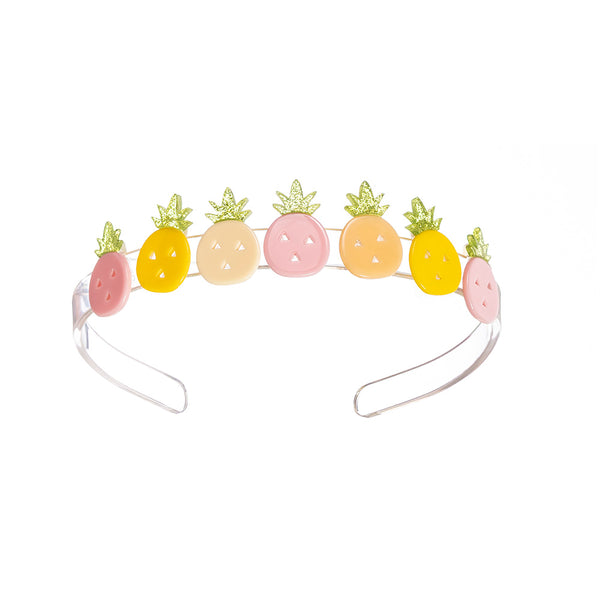 Multi Pineapple Pink Yellow Headband
