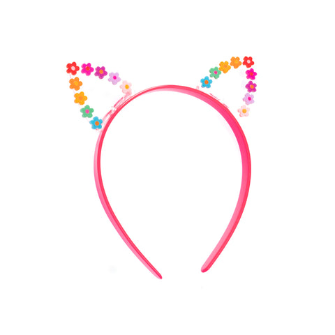 Flowery Cat Ears Headband