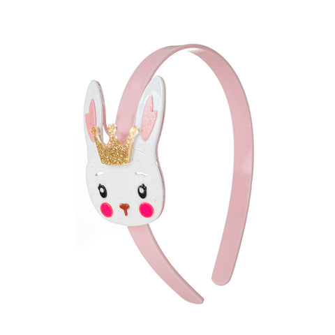 White Easter Bunny with Crown Headband