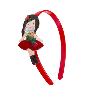 Santa's Helper Glitter Red Headband