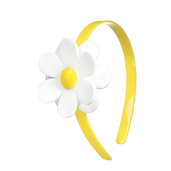 Daisy, flowers, headband, hair accessories, yellow, bright