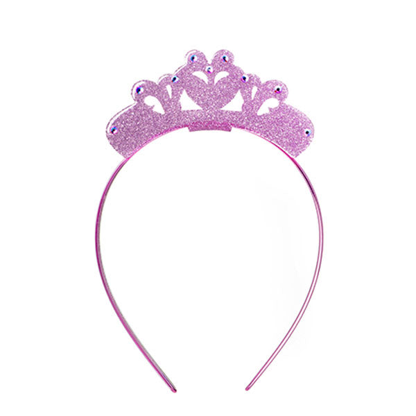 Glitter crown, headband, tiara, princess, glitter light pink , hair accessory