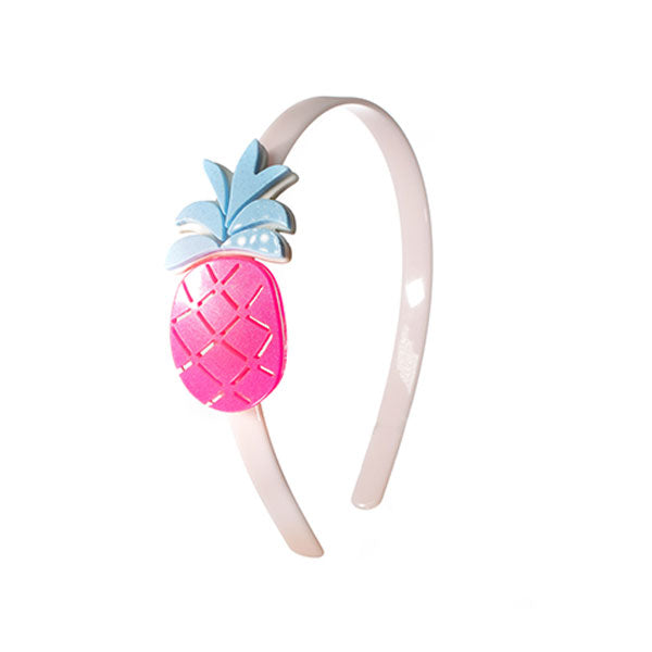 Pineapple, fruit, headband, hair accessories, neon pink, blue