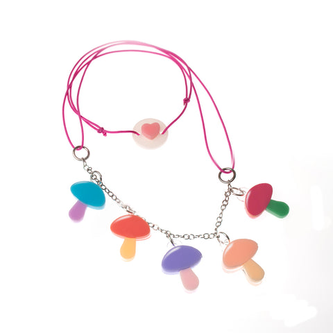 Colorful Mushroom Necklace