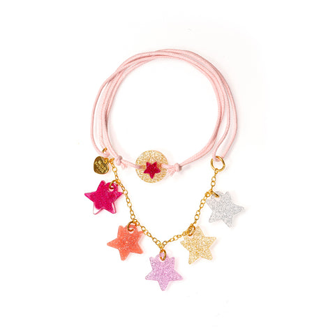 Mini Stars Glitter Colors Necklace