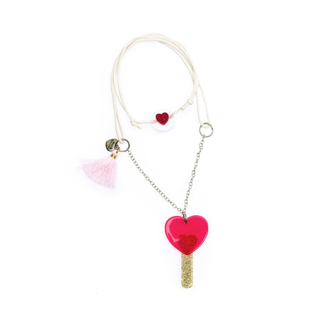 Lollipop Heart Necklace