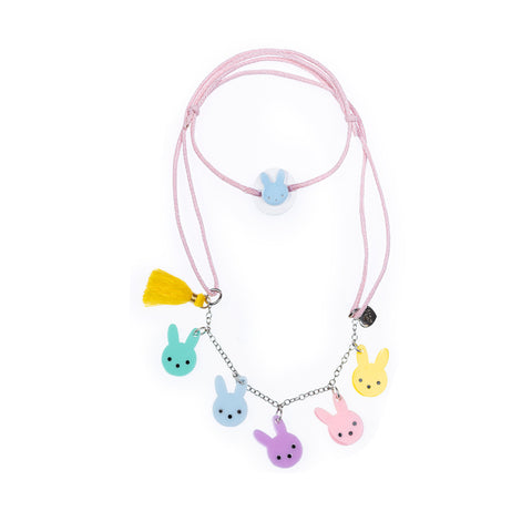Easter Bunny Pastel Colors Necklace