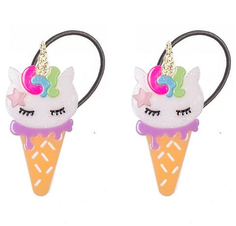 Ice Cream Unicorn Ponytails -  Lilies & Roses NY