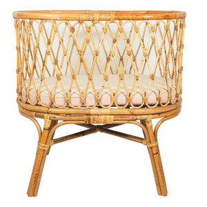 baby bassinet moses basket made of bamboo rattan with mattress