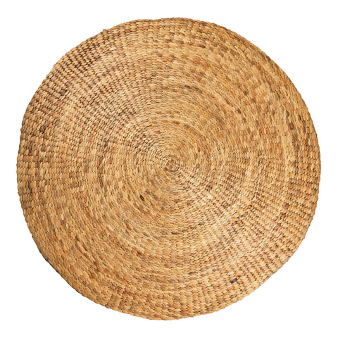 water hyacinth circular rug boho chic look