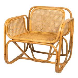 Bamboo and rattan chair based on the Jan Bocan classic