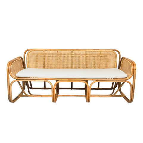 Three seater baraka bamboo and rattan sofa. Inspired by the designs of Jan Bocan