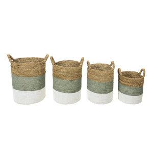 Set of 4 Barang seagrass storage basket. Perfect for laundry or toys