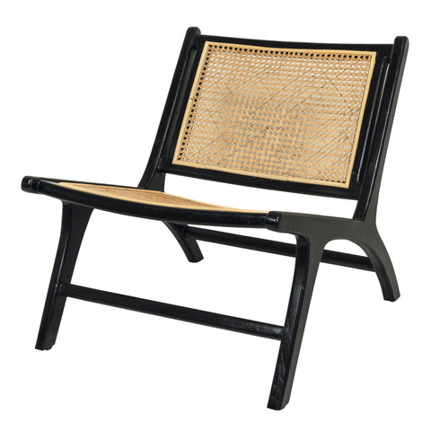 Our bergaya black teak and rattan stylish modern and contemporary chair