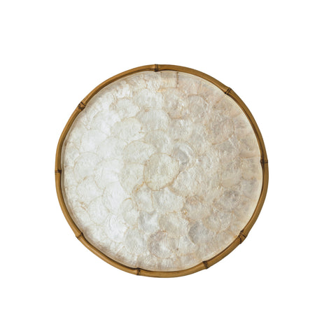 Tiram Capiz and Bamboo Round Tray