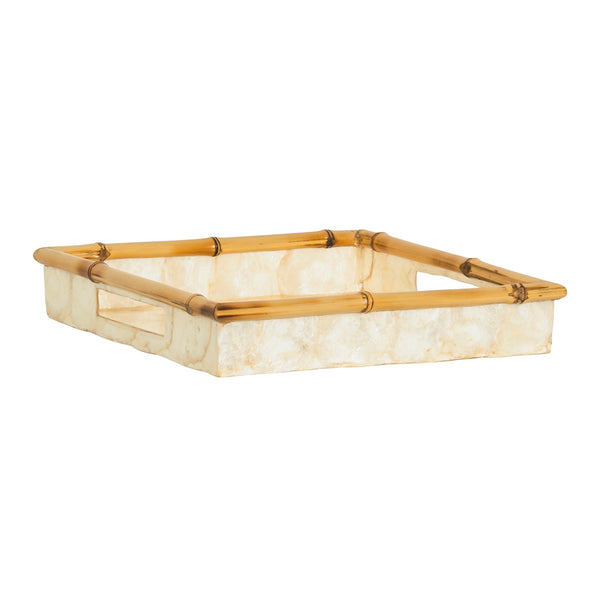 Tiram Capiz and Bamboo Square Tray