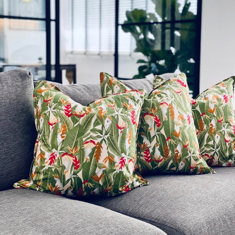 Green Cockatoo Cushion Covers