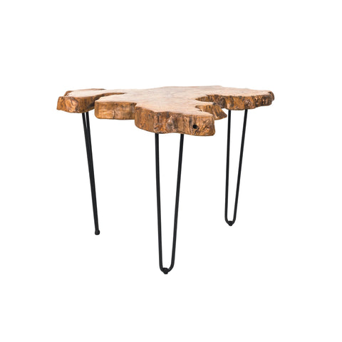 Irisan sliced solid teak wood table, based on a design classic