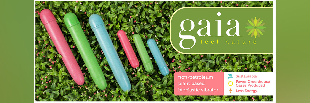Gaia, the first sex toy on the market made of BioFeel, a non-petroleum plant based material. This material is the perfect choice for a vibrator since it is nonporous, body safe and easy to clean. Gaia is smooth to the touch, transfers vibrations beautiful
