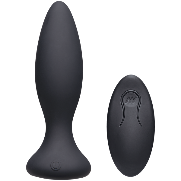 A-Play Beginner Vibrating Rechargeable Silicone Anal Plug With Remote By Doc Johnson - Black