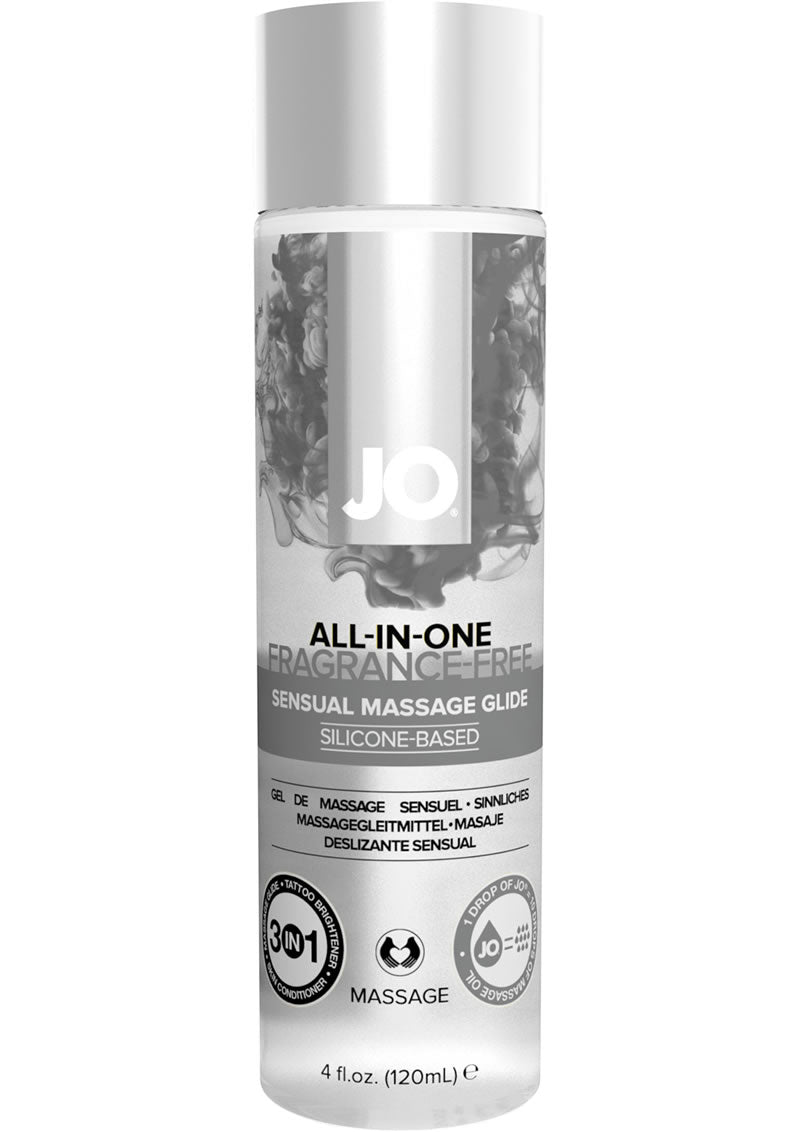 JO All-In-One Silicone Massage Glide Fragrance Free 4oz
