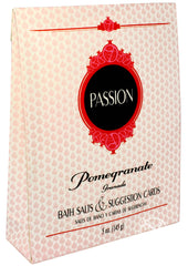 Passion Bath Set - Pomegranate Scented Bath Salts With Suggestion Cards