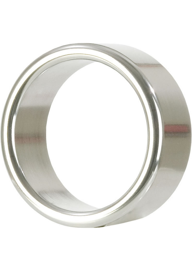 Alloy Metallic Cock Ring - Large - 1.75in - Silver