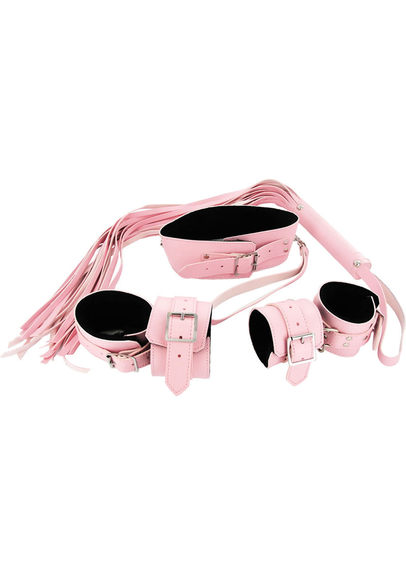 Strict Leather Bondage Set - Pink