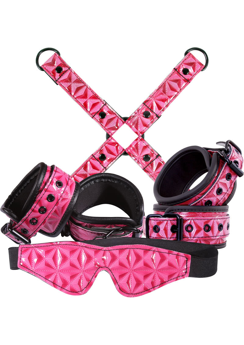 Sinful Bondage Vinyl Kit (Set of 4) - Pink