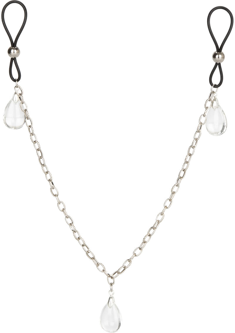 Nipple Play Non Piercing Nipple Chain Jewelry - Crystal