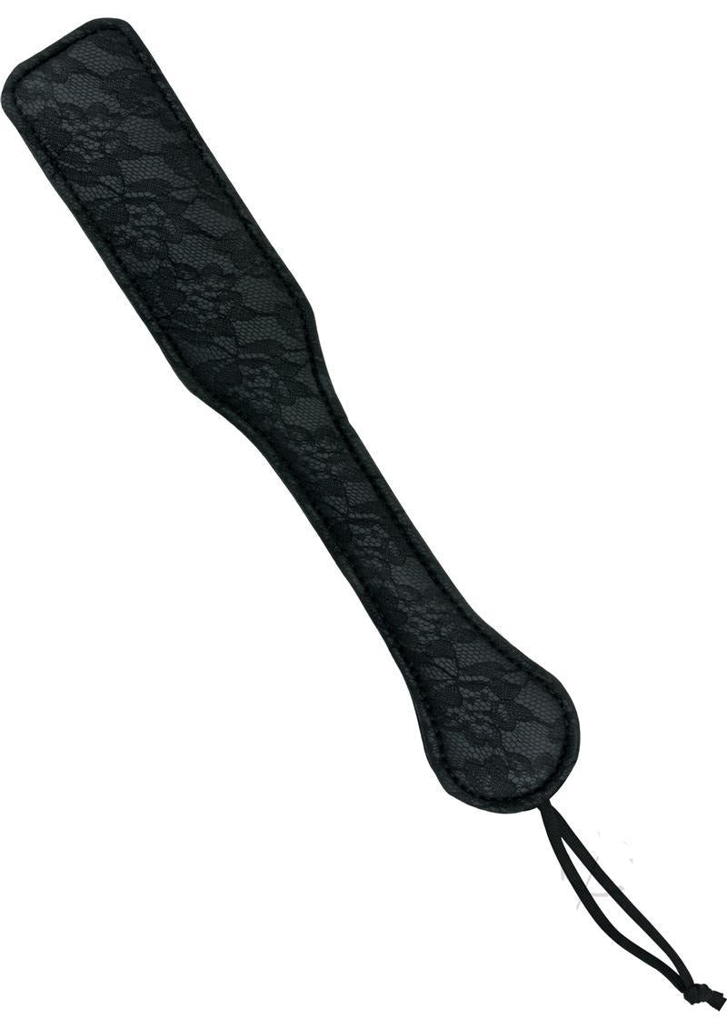 Sincerely Lace Paddle 12in By Sportsheets - Black