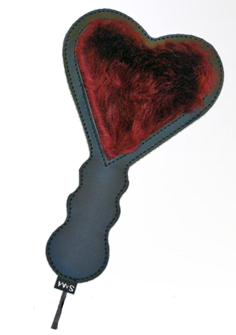 Sex and Mischief Enchanted Heart Paddle - Black/Red