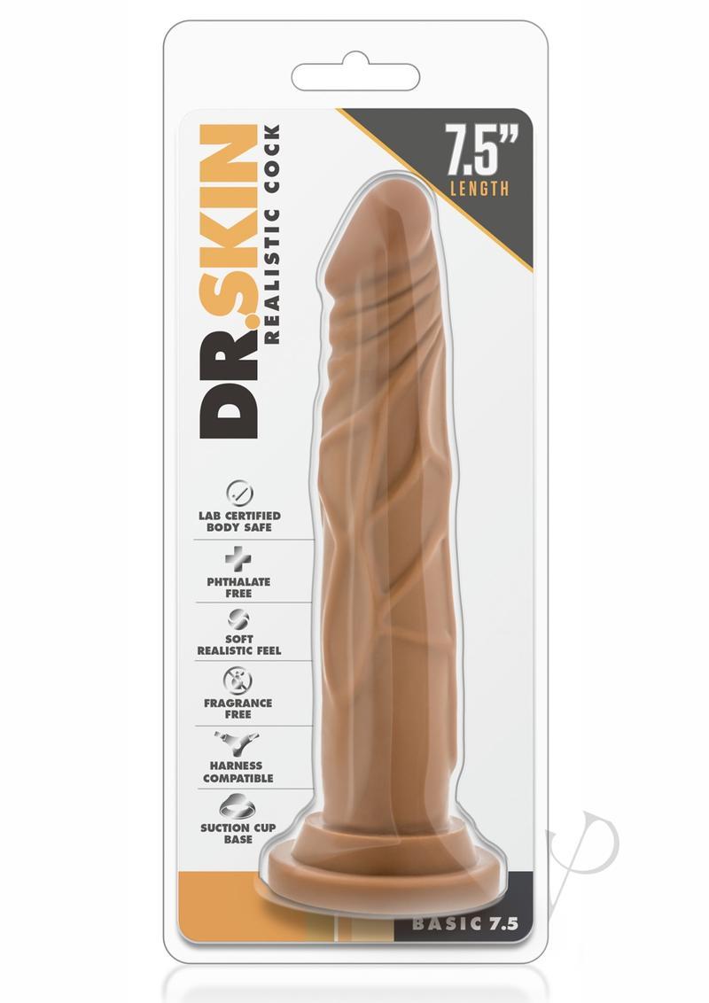Dr. Skin Basic 7.7 Dildo 7.5in - Caramel