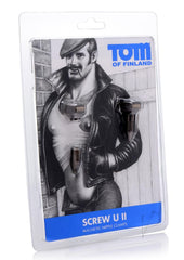 Tom Of Finland Bro's Pins Magnetic Nipple Clamps - Gray