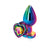 Rear Assets Multicolor Heart Anal Plug - Medium - Rainbow