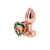 Rear Assets Rose Gold Heart Anal Plug - Small - Rainbow