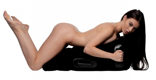Frisky Mount Me Inflatable Sex Position Pillow - Black